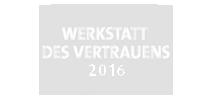 WERKSTATT DES VERTRAUENS 2016